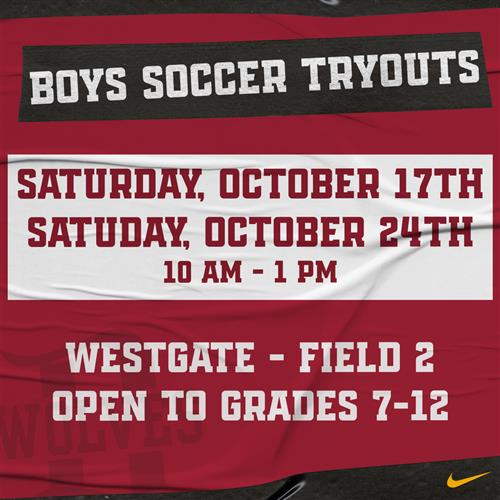 Boys Soccer Tryouts 2020-2021