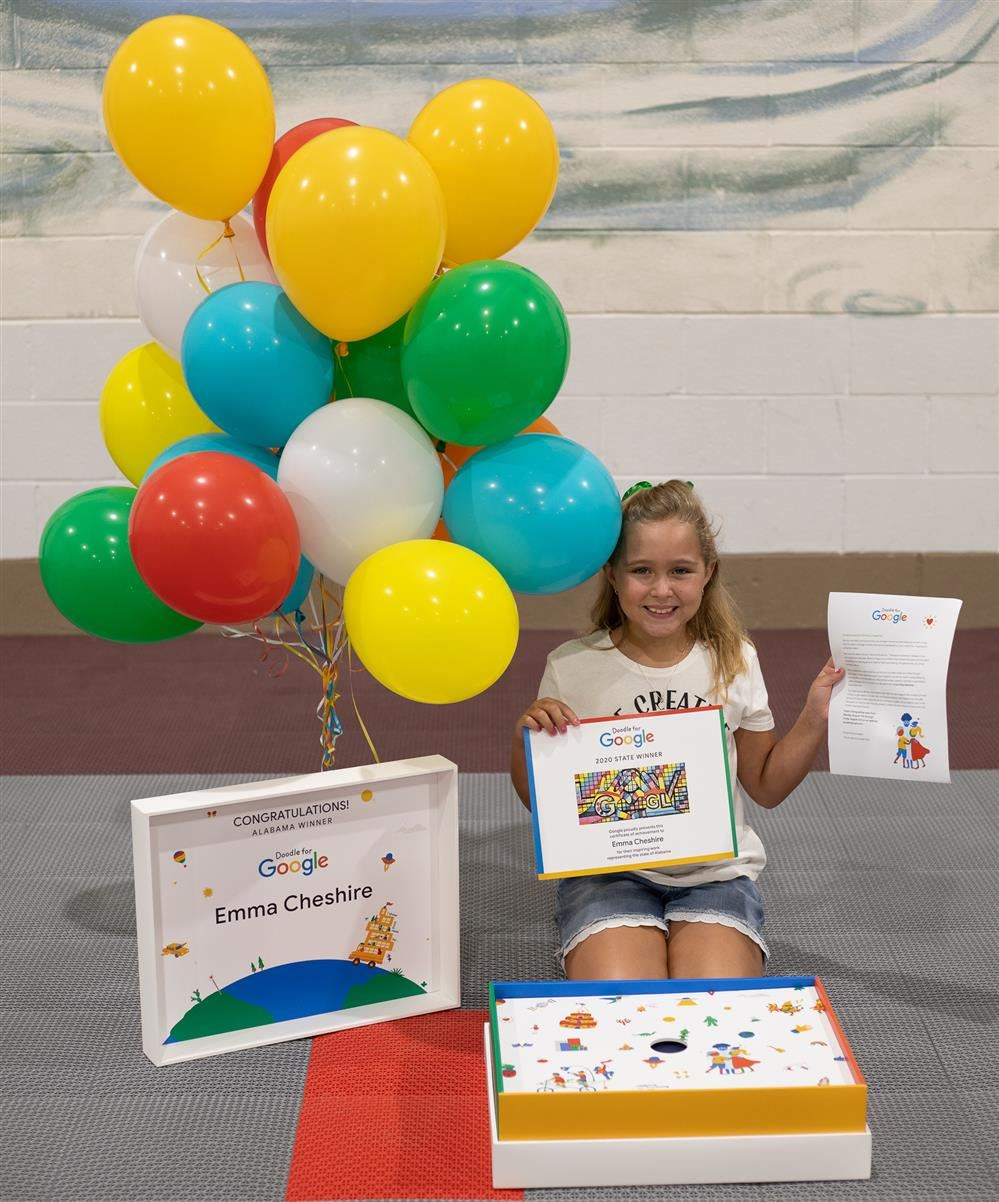 Hidden Lake Primary School Student Chosen as Winner for Alabama in Doodle for Google Competition
