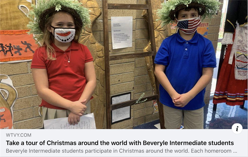 Take a tour of Christmas around the world with Beverlye Intermediate students
